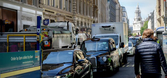 Image of traffic in london