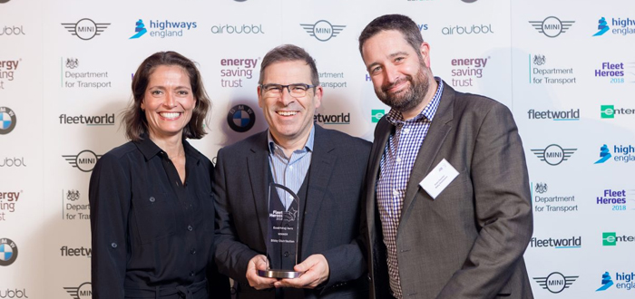 image of bibby team accepting award