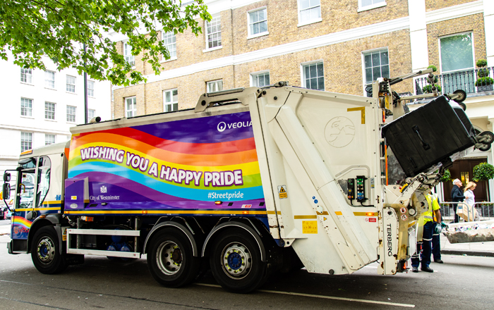 Veolia Deliver Pride's Most Colourful Clean Up Operation In Celebration Of Jubilee Year.