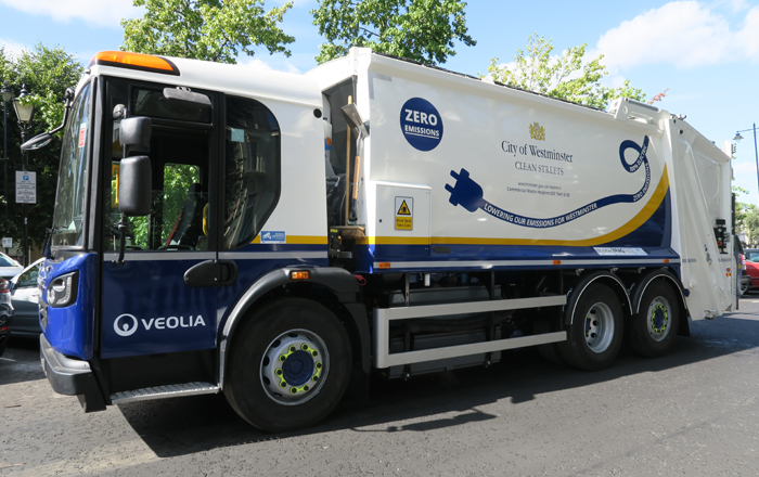'Upcycled' Refuse Collection Vehicles Lead Zero-Emission Revolution For London.