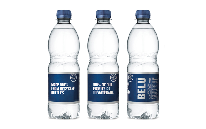Belu Becomes First UK Water Company To Make All Plastic Bottles From 100% Recycled Plastic Bottles.