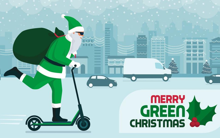 We're Dreaming Of A Green Christmas.