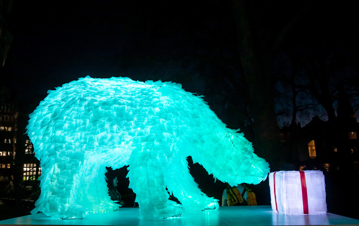 The Giving Bear Installation Inspires Change In London.